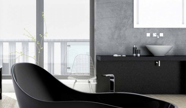 Vasche Da Bagno Design Moderno : Vasca da bagno freestanding laccata design moderno wave