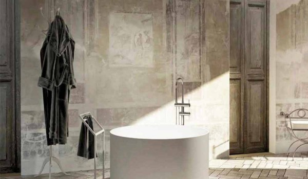 Vasca Da Bagno Freestanding Rotonda : Vasca freestanding da bagno rotonda di design fatta in italia cremona