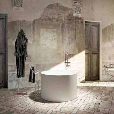Vasca da bagno freestanding rotonda di design fatta in Italia Cremona
