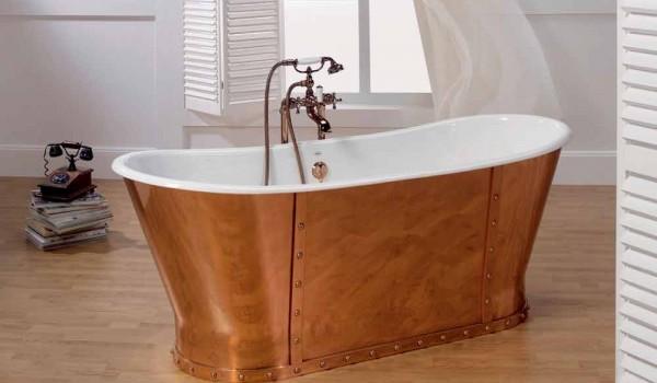 Vasca Da Incasso In Ghisa : Vasca da bagno in ghisa placcata esternamente in rame henry