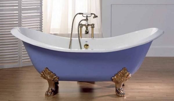Vasca Da Bagno Ghisa Smaltata : Vasca da bagno in ghisa smaltata e verniciata con piedini lane
