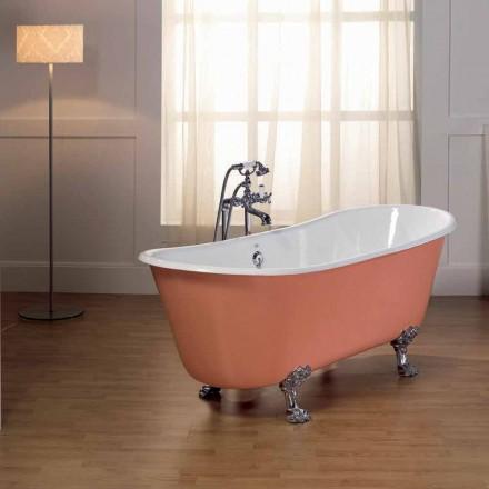 Vasca da bagno in ghisa verniciata con piedini vintage Melissa