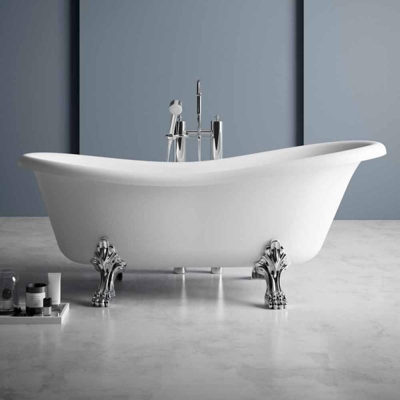 Vasca Free Standing, Design Vittoriano in Solid Surface - Rain