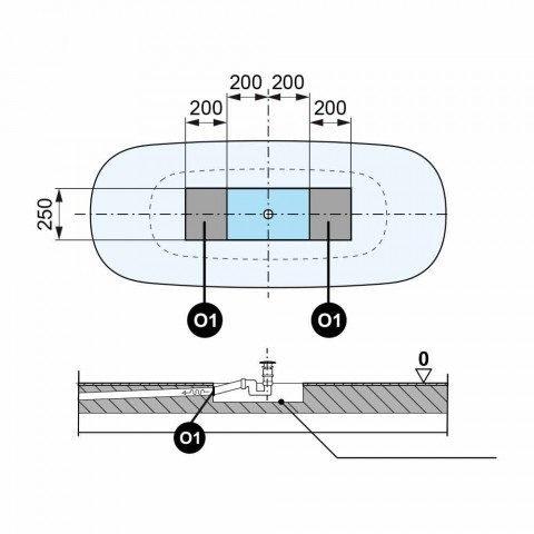 Vasca Free Standing Moderna, Design in Solid Surface - Link