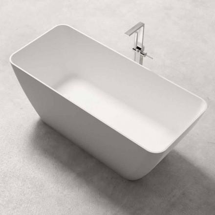Vasca Freestanding Design Moderno Bianco Lucido o Opaco - Face