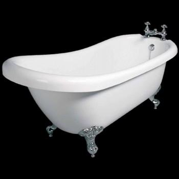 Vasca freestanding design moderno in acrilico bianco Dawn 1700x750mm