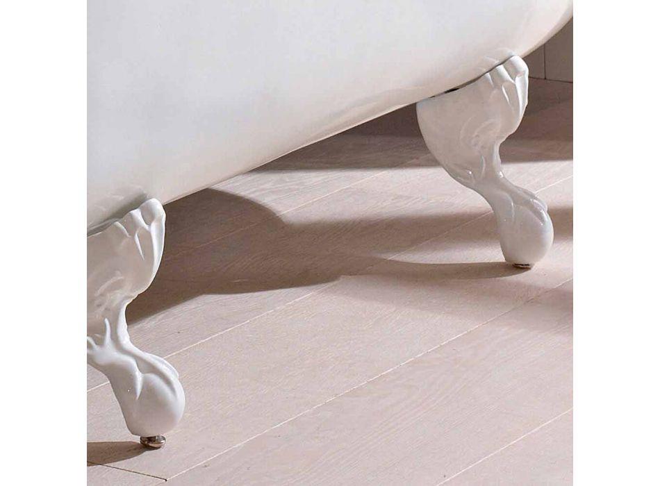 Vasca Freestanding Design Vintage in Ghisa Bianca, Made in Italy – Marwa