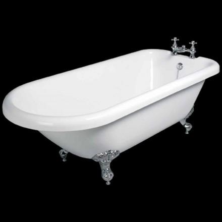 Vasca freestanding di design in acrilico bianco Sunset 1770x795 mm