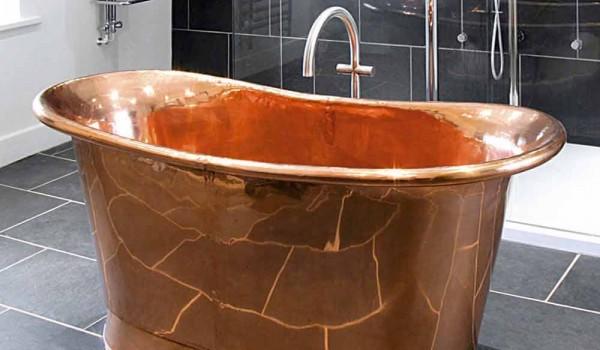 Vasca Da Bagno Di Rame : Vasca freestanding di design in rame lucido peggy