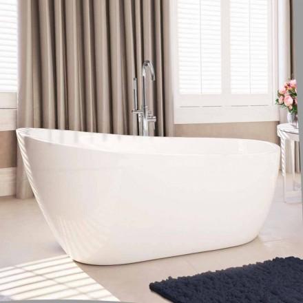 Vasca freestanding moderna in acrilico bianco 1730x775 mm Abbie