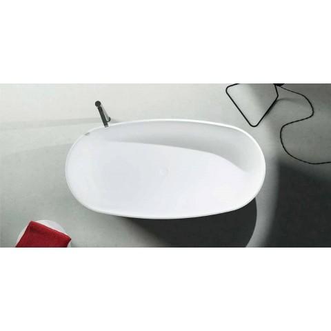 Vasca monoblocco freestanding di design prodotta in Italia, Dongo