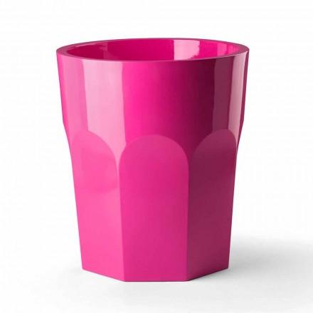 Vaso Alto Decorativo a Forma di Bicchiere in Polietilene Made in Italy - Pucca