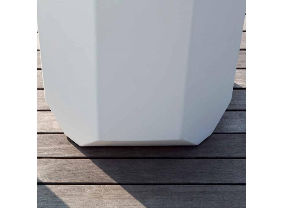 Vaso Bianco da Interno o Esterno in Plastica di 3 Misure - Gem by Myyour