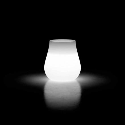 Vaso da Esterno Luminoso Design a Goccia in Polietilene Made in Italy - Monita