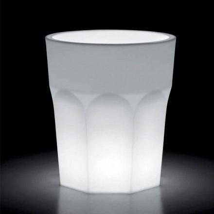Vaso Decorativo Luminoso in Polietilene con Luce LED Made in Italy - Pucca