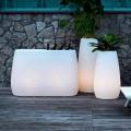Vaso Fioriera in Plastica Luminosa, Design in 3 Misure, 2 pezzi - Pandora by Myyour