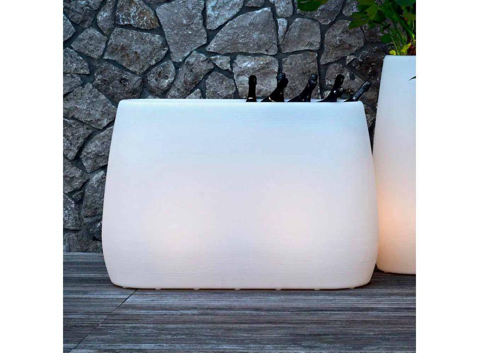 Vaso Fioriera in Plastica Luminosa, Design in 3 Misure - Pandora by Myyour