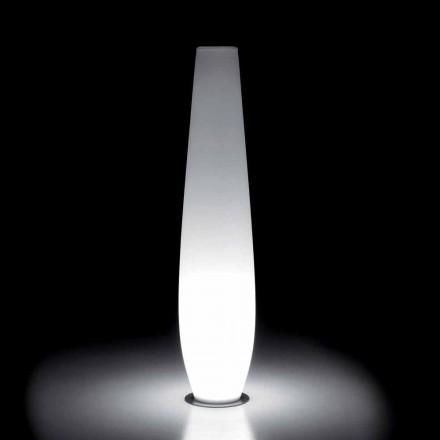 Vaso Luminoso da Esterno con Luce LED in Polietilene Made in Italy - Nadai