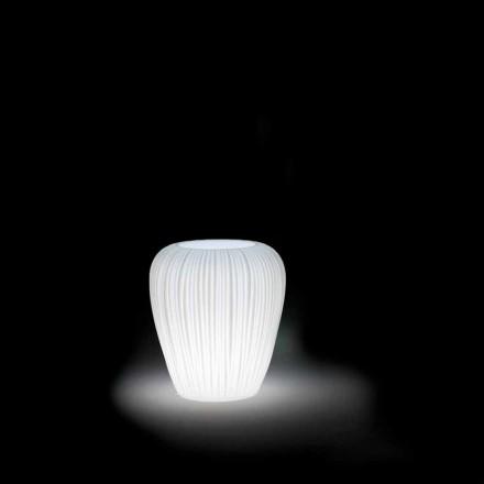 Vaso Luminoso da Esterno Design Moderno in Polietilene, 2 Pezzi - Skin by Myyour