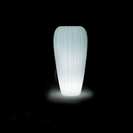 Vaso Luminoso da Esterno in Polietilene di Design Moderno - Skin by Myyour