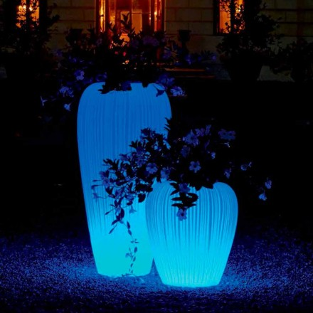 Vaso Luminoso di Design Moderno a Batteria RGBW a Induzione - Skin by Myyour