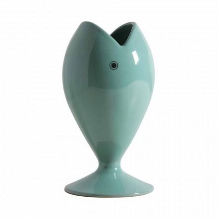 Vaso Portafiori Artigianale in Ceramica Moderno Made in Italy - Orata
