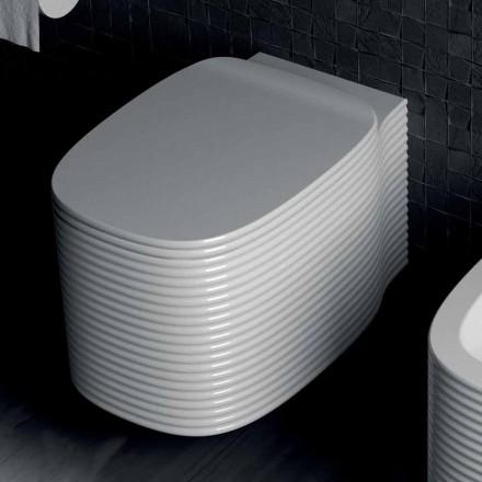 Vaso sospeso in ceramica di design moderno fatto in Italia, Amleto