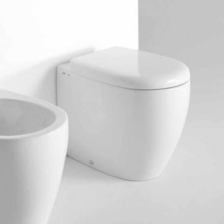 Vaso Wc a Terra di Design Moderno in Ceramica Colorata Made in Italy – Lauretta
