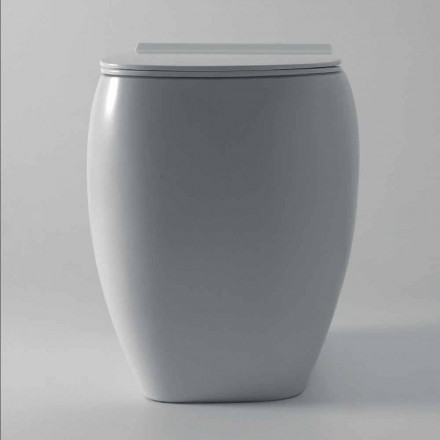 Vaso WC in ceramica bianca dal design moderno Gais, made in Italy