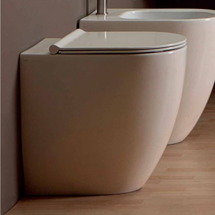 Vaso WC in ceramica bianca design moderno Shine Square H50 Rimless