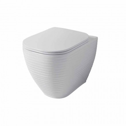 Vaso WC in Ceramica Bianca o Colorata di Design Trabia