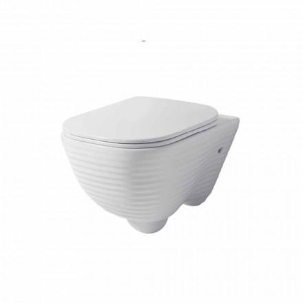 Vaso WC Moderno Sospeso in Ceramica Bianca o Colorata Trabia