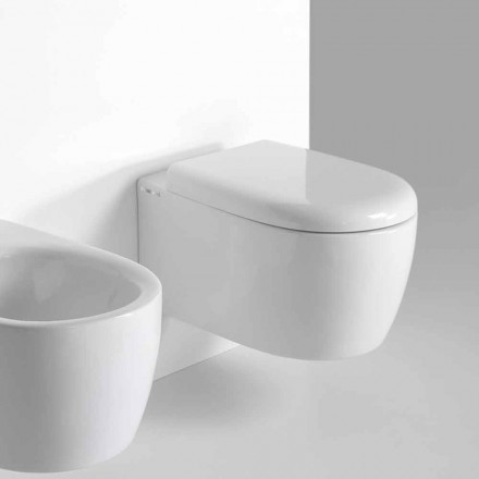Vaso Wc Sospeso di Design Moderno in Ceramica Colorata Made in Italy – Lauretta