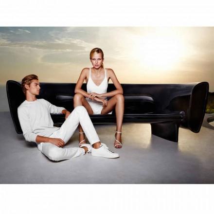 Vondom Bum Bum divano da giardino di design moderno laccato nero