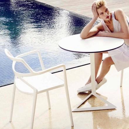 Vondom Delta sedia da giardino di design moderno in polipropilene, 4 pezzi