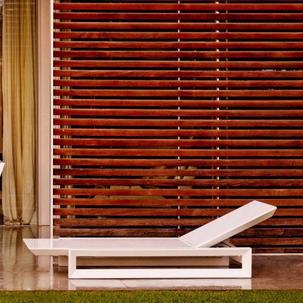 Vondom Frame lettino da giardino di design in polietilene bianco