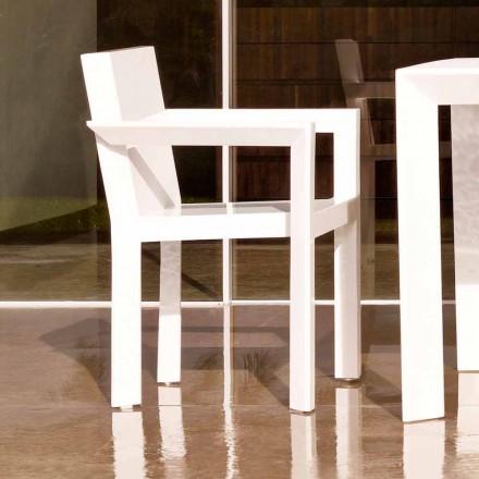 Vondom Frame sedia da giardino con braccioli in resina di polietilene, 2 Pezzi