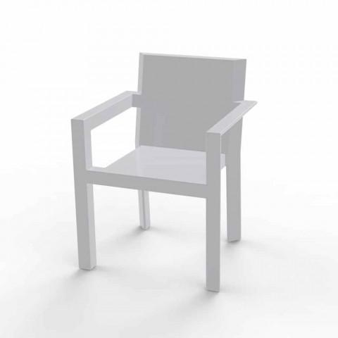 Sedie Di Plastica Da Esterno.Vondom Frame Sedia Da Giardino Con Braccioli In Resina Di Polietilene