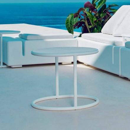 Vondom Kes tavolino tondo da giardino in acciaio, design moderno