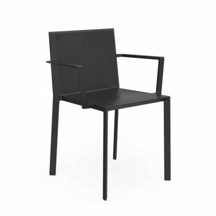 Vondom Quartz sedia con braccioli da giardino di design, L52xP57xH79cm, 4 Pezzi