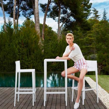 Vondom Spritz set da giardino tavolo e due sgabelli bianchi di design
