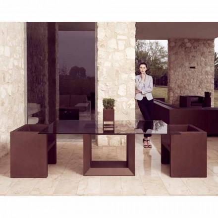 Vondom Vela poltrona da giardino design moderno, finitura bronzo