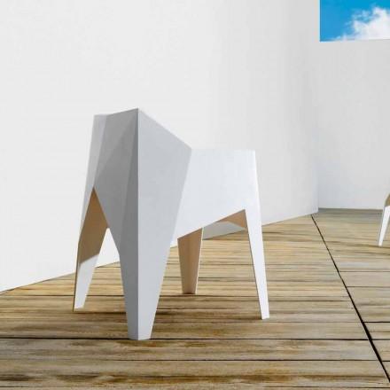 Vondom Voxel sedia da giardino moderna colorata in polietilene, 4 pezzi