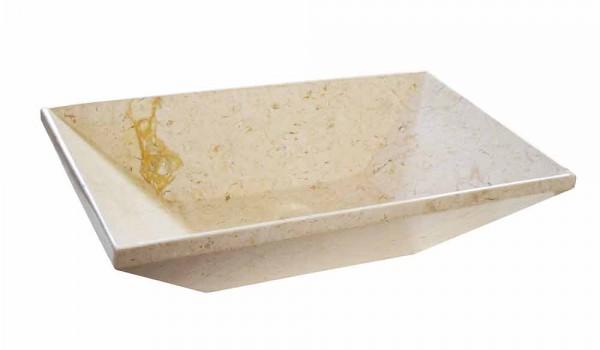Vasca Da Bagno Trapezoidale : Lavabo da appoggio trapezoidale di design in marmo beige wok