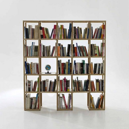 Libreria componibile moderna Zia Babele I Castelli 6 legno made Italy
