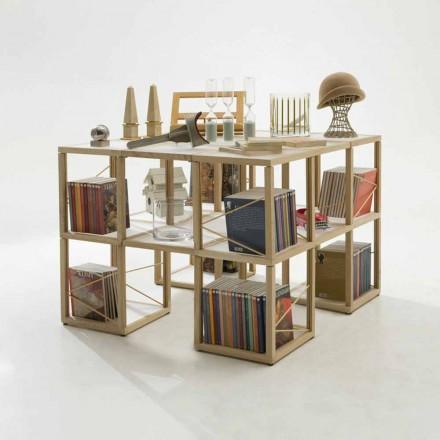 Libreria componibile design Zia Babele I Castelli 7 legno made Italy