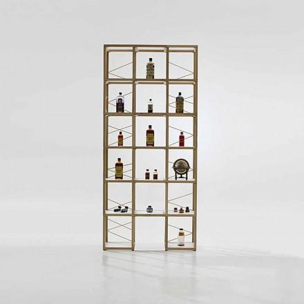 Libreria componibile Zia Babele I Castelli 9 legno rovere made Italy
