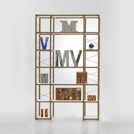Libreria componibile Zia Babele I Castelli 10 legno design made Italy