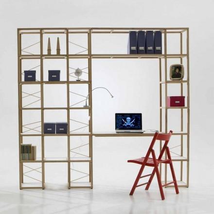 Libreria in legno Zia Babele I Castelli 13 con moduli fatta in Italia