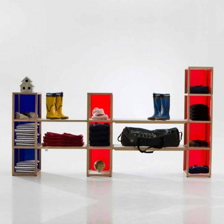 Libreria componibile moderna Zia Babele I Castelli 2
